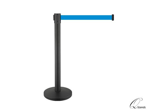 3m black retractable belt barrier