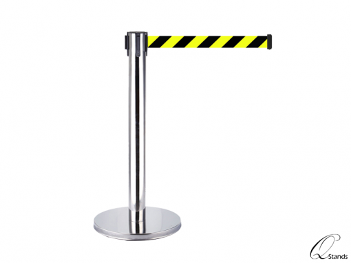 5m Silver Retractable Belt Barrier
