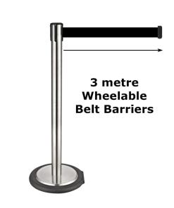 Wheelable Belt Barriers